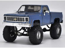 * 1:24 Chevy Chevrolet Silverado (Blue) K10 4X4 Pickup So Real Concepts Diecast Model Truck
