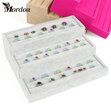 Mordoa High-grade Rings Display Tray Organizer Show Case Jewelry Display Box Rings earrings Organizer Show Shelf