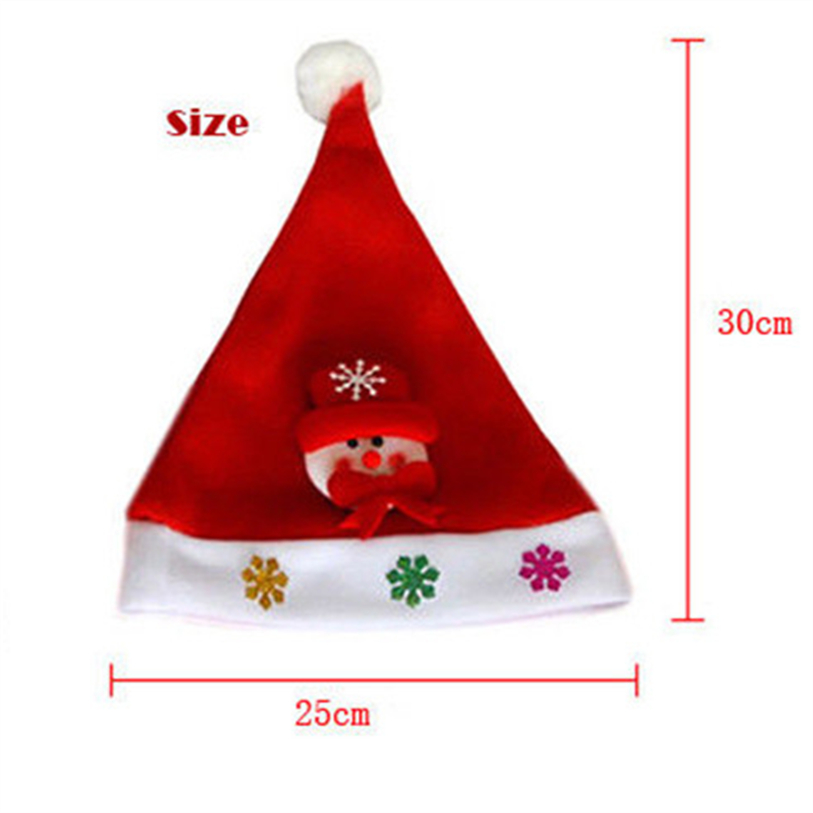 New Cute Christmas Hat LED Caps Snowman Elk Hat for Children New Year Xmas Kids Gift Home Decorations Christmas Ornaments noJY3 (6)