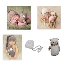 Crochet baby hats and newborn baby dolls cute elf hat pictures with long tail cap 0-3m