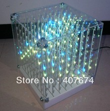 New Novelty 8*8* SMD F5 3 in1 Laying 3D Cube Light for Advertising,DJ party Show,LED Display,SD CARD CUBE LGIHT