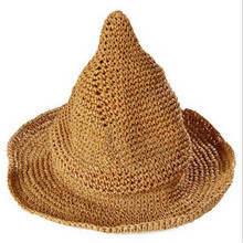 Summer Girls Boys Toddler Kids Hat Wide Large Brim Beach Cute Lovely Triangle Sun Cap Sweet Korea Straw Witch Hat