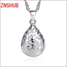 New Arrivals fashion women 925 sterling silver necklace pendant hollow design moonlight opal pendant jewelry wholesale