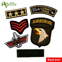 6pcs cute clothes military mark logo patch sew iron on patches for clothing deal with fabric DIY army motif U.S Navy airborne(China)