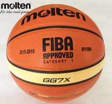 Offical Molten Basketball GG7X Size 7 PU Material Basketball Ball Outdoor Indoor Training Ballon Free With Net Bag+ Needle