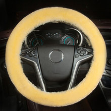 Universal winter wool steering wheel cover short plush for Mitsubishi Lancer Outlander Pajero Eclipse Zinger Verada asx I200(China)