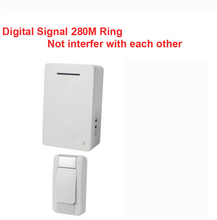 D28 1-1 wireless door bell receiver by AA battery doorbell Waterproof 280 Meter door chime door ring digital signal ring