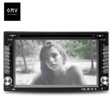 6.1 inch Car DVD video Player monitor 2 din GPS/Radio audio/MP3/USB/SD/Bluetooth support Remote Control rear view Camera IR