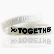 300pcs Awareness Lung Cancer White wristband silicone bracelets free shipping by FEDEX(China)