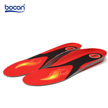 Bocan heated insoles for shoes wireless remote control 3 level choices safety electric heated boots insoles for warm winter 8899(China)