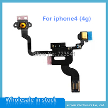 10pcs/lot Total New Power Button Flex Cable Ribbon For iPhone 4 4G Proximity Light Sensor Power Switch On / Off Replacement part
