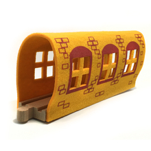 p128 Color Felt Soft Tunnels Garage Compatible with Thomas Train Wooden Tracks suitable for wooden Thomas electric train