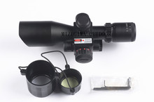 Optical sight Riflescope 2.5-10x40 Red Green Dot Mil-dot Dual illuminated Sight With Red Dot 20mm Laser w/ Rail Mount Airsoft