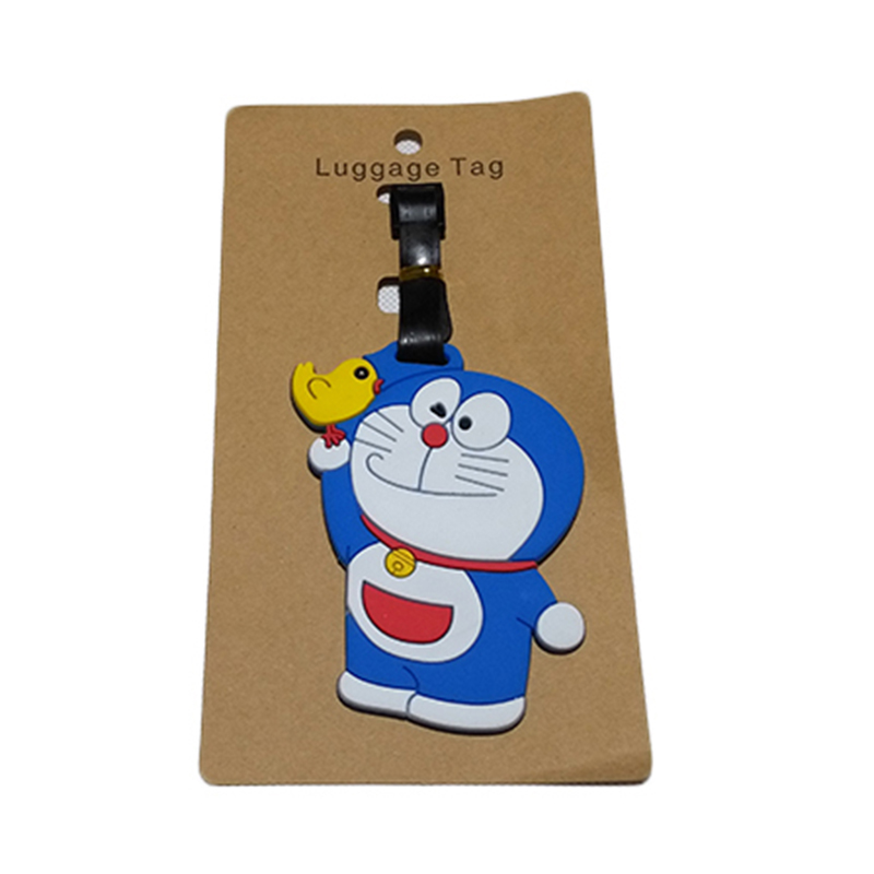 Travel Accessories Luggage Tag Suitcase Cartoon Style Cute Minions Silicone Tags Portable Travel Label Bag Tag Obag Accessories (13)