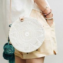 Buy ZHIERNA Small Circle Straw Bags Women Handmade Beach bag Summer Holiday Rattan Handbags Butterfly Women Messenger Bag for $44.99 in AliExpress store