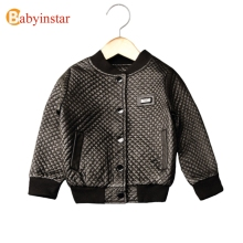 Babyinstar Fashion Boy's Leather Jacket Spring Autumn Solid Children's Coat 2017 New Baby Tops 2-8Yrs Kid's Outerwear(China)