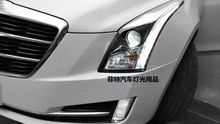 Fett Styling Head Lamp case for Cadillac ATS ATS-L Headlights LED Headlight DRL Lens Double Beam Bi-Xenon HID car Accessories