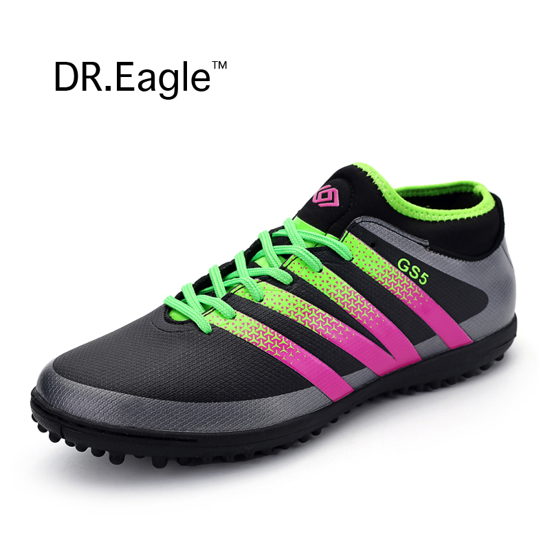 Adult indoor football shoes 2016 kids Futsal shoes for sock football boots boys soccer cleats man sneakers Free shipping<br>