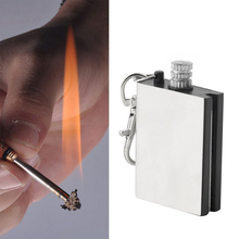 Hot Fasion Stainless Steel Permanent Fire Metal Match Lighter Key Rings Chain Camping Hiking Survival