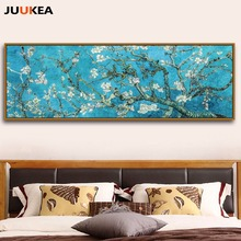 Vincent Van Gogh Blossoming Almond Tree Oil Painting Canvas Print Painting Home Decor Large Size Wall Picture For Living Room(China)