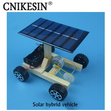 CNIKESIN DIY Kits Manual Assembly Materials Solar Power Driven Vehicle Small Tech Production (no battery)