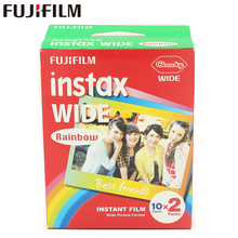 Brand New Fujifilm Instax Wide Film Rainbow Twin Packs (20 Photos) for Instant Photo Camera Instax 200 210 Free Shipping(China)