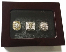 USA size 9 to 13! 3pcs/set 2010 2012 2014 San Francisco Giants world championship rings replica wooden ring box drop shipping