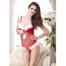 New Year Christmas Women Bra Push Up Bra Set Sexy Lingerie Underwire Cup Backless  Red Have 34B 36B 34C 36C