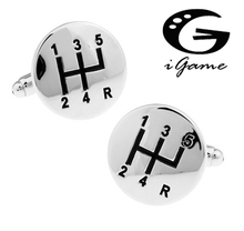 Free Shipping Car Gear Cufflinks Wholesale&retail Novelty Silver Gear Design Quality Brass Material Best Gift For Men(China)