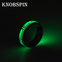 Trendy love Luminous Ring Couple Rings For Friends Gift Stainless steel Jewelry Fluorescent Glowing Logo Lover Rings Party(China)