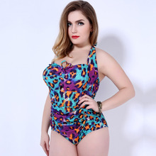 Buy 2018 New Plus Size Swimwear Women One Piece Swimsuit Sexy Large Size Swimming suit Backless Beach Wear Halter Bathing Suit