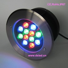 IP68 High power 12W outdoor RGB LED recessed light,LED pool light,good quality stainless steel,EDISON Chip,DS-11S-09-12W-RGB