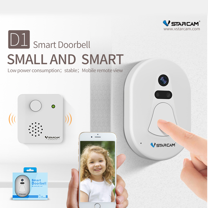 VStarcam HD Battery Door Camera Wifi Free Cloud Storage Photo Security Night Vision Doorbell<br>