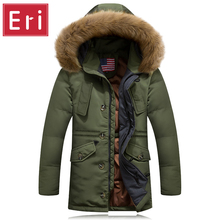 2016 Winter New Men Down Jackets Coat Mens Brand Clothes With Fur Collar Casual Hooded Thick Slim Fit Warm Duck Down Jacket X430