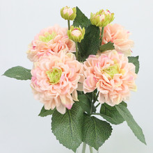 Flone European-Style Artificial Dahlia Flower Simulation Silk Flower Wedding Home Living Room Decoration Fake Flowers(China)
