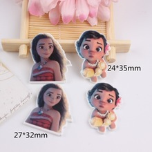 10pcs/lot Kawaii flat back resin girl planar resin cabochons accessories(China)