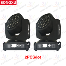 SONGXU 2pcs/lot 19x15w RGBW Bees Eyes big eyes moving head with zoom rotating mac aura dj party nightclub Stage Light/SX-MH1915A(China)