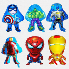 1pc Kid Birthday Party Decoration Idea Avengers Mylar balloons toy super hero Captain America superman Iron man spider man theme(China)