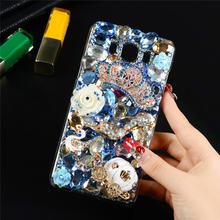 "3D Protective Diamond Crystal Phone Cover For Samsung Galaxy J7 (2016 Version) J7108 5.5"" Bling Rhinestone Back Shell Case"