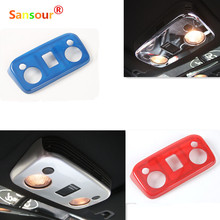 Car Styling Top Reading Lights Trims Panel Covers Interior Moulding ABS For Ford Mustang 2015 Up Red Blue Silver