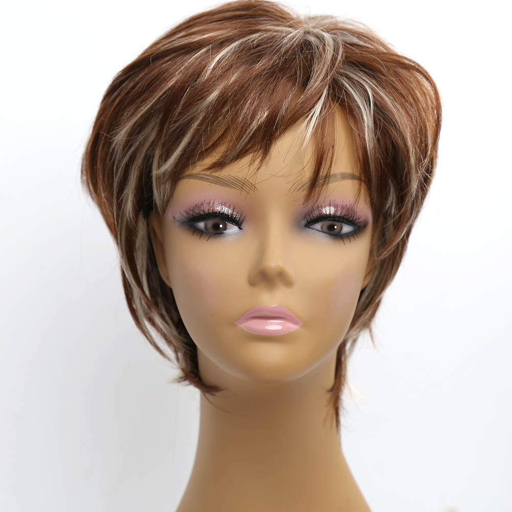 ombre synthetic wigs cheap short blonde wigs synthetic sexy female short haircut wigs Nice natural looking women wigs Perruque <br><br>Aliexpress