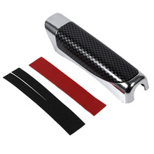 Wooden and Carbon Fiber Style Auto Car Hand Brake Break Protector Decoration Cover Red/Black(China)