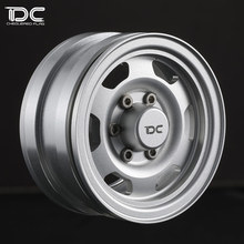 DC FOR 1/10 SCALE RC CRAWLER CAR 1.55 INCH ALLOY WHEEL HUB (LC76 Type) TF2 HILUX 6 SPOKE - 2pcs/set 90366