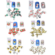Mix designs Suitable Elegant fashionable style 10PC /1set 3D Nail art Merry Christmas Nail Decorate Beautiful Nail Polish