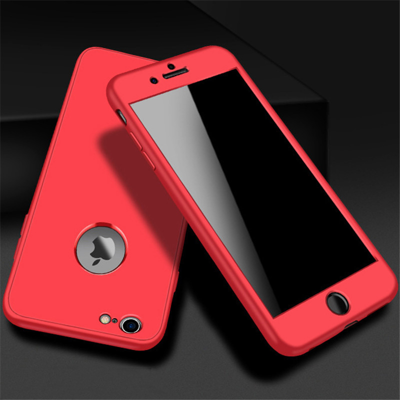 Luxury Soft TPU 360 Full Cover Cases For iPhone 9 X 8 7 6 6S Case 5 5S SE Cover Cases For iPhone 6 7 8 9 Plus case 6.1 6.5 inch (6)