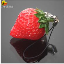 OPPOHERE 1PC Mini Cute Fruit Keychain Simulation Fruit Cell Phone Charm Bag Keychain Pendant Decor Free Shipping(China)