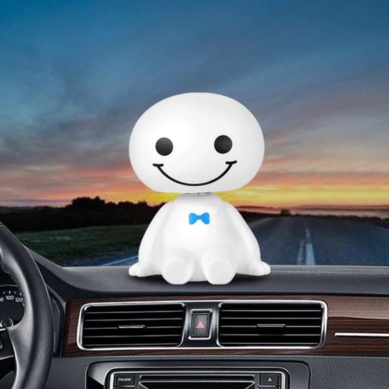 Car Ornament Cute Shaking Head Baymax Robot Doll Automotive Decoration Auto Interior Dashboard Bobble Head Toys Accessories Gift (8)