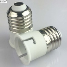 White 6A 220V E27 TO B22 lamp bases LED light bulb Socket Conversion Screw Lamp Holder converter Flame Retardant Protection