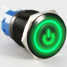 EE support Auto Metal Switches 12V 5A LED Light 19mm Push Button Switch Car Styling Interior Parts Hot 5 colors(China)