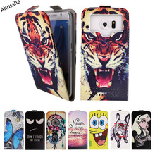 "New Hot! Luxury 5"" Print Up and Down Flip PU Leather Back Cover For Vertex Impress Eagle Case Universal Phone Cover,Gift, X1"